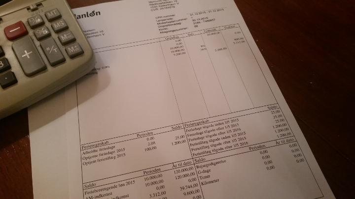 Lønseddel laves i lønsystemet Danløn